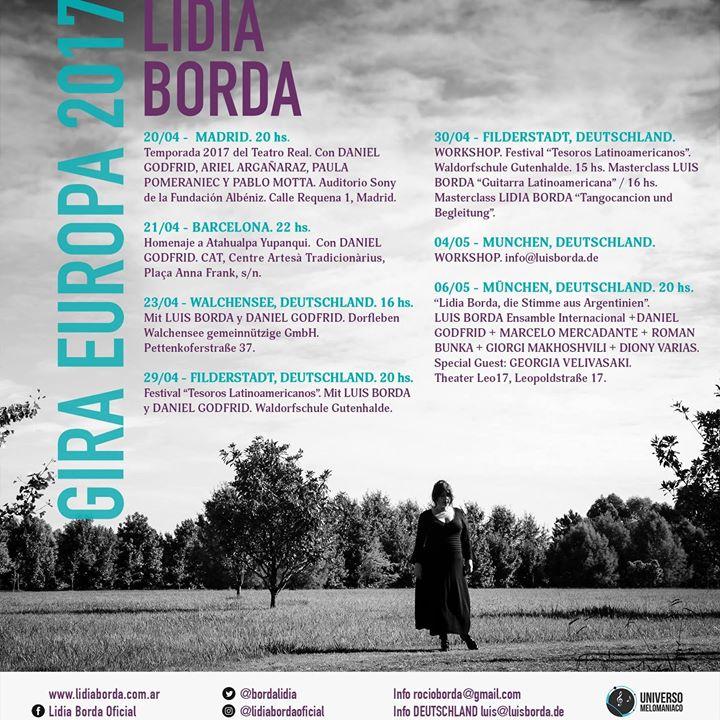 afisa Lidia Borda in Europe